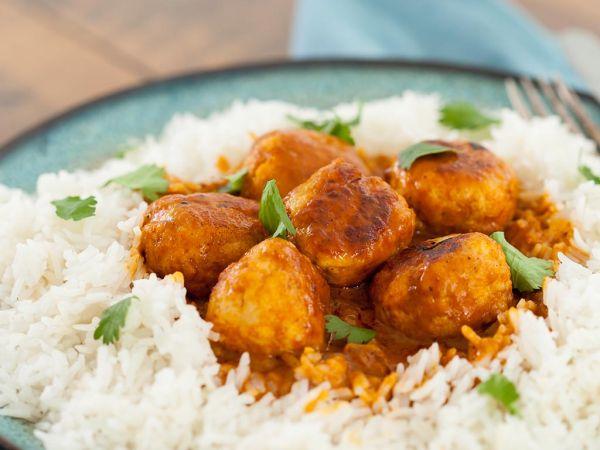 Curried Chicken Meatballs - Manor Farm Chicken Mince Ireland